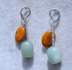 Uniq Shop | Handmade earrings with Amazonite & Chrysocolla
