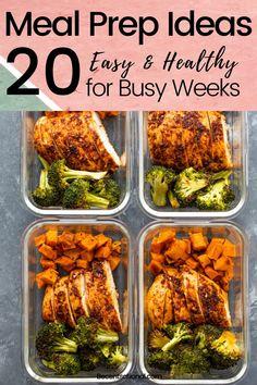 Easy Healthy Meal Prep, Best Meal Prep, Easy Healthy Recipes, Easy Meals, Healthy Eating, Healthy Lunches, Health Meal Prep, Fitness Meal Prep, Freezer Meals