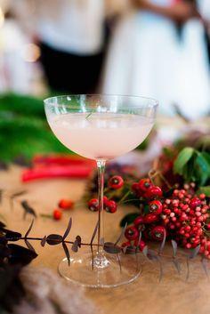 Winter's Blush // serves one  2 oz vodka 1 oz fresh lemon juice 1 oz simple syrup (1 part sugar, 1 part water) pomegranate seeds (for color & garnish) 1 stem rosemary