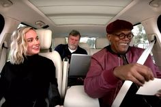 Samuel L. Jackson & Brie Larson are in The Late Show Brie Larson, Karaoke, Ariana Grande, Jackson, Singing