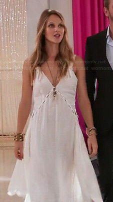 Abby's white handkerchief hem dress on Girlfriends Guide to Divorce.  Outfit Details: https://wornontv.net/44412/ #GG2D