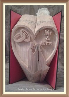 World map book folding pattern gifting treasures pinterest wedding book folding pattern mr mrs wedding heart gumiabroncs Image collections