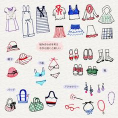 Clothes doodles.