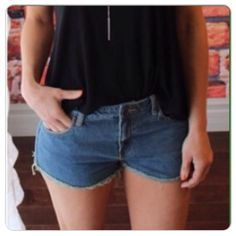 ‼️Sale‼️Denim Boutique Shorts Super cute & lightweight with fringe! PP Holds Trades Price is Firm unless bundled. Shorts
