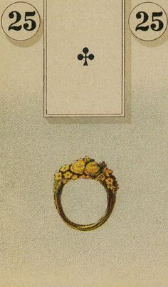 Lenormand divination card 25 - Ring