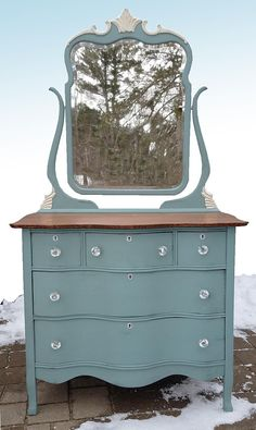 farmhouse style dresser painted furniture painted dresser #Ad