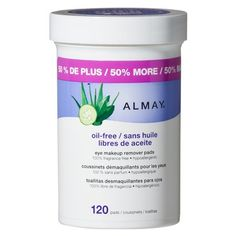 Almay Oil-Free Gentle Eye Makeup Remover Pads-120ct