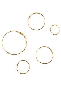 BASIC HOOP EARRINGS - GOLD
