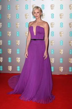 Charlize Theron Made Heads Turn in Her Fuchsia Gown at BAFTAs Photo Charlize Theron adds a gorgeous pop of color to the red carpet while arriving for the 2020 EE British Academy Film Awards on Sunday (February at Royal Albert… Strapless Dress Formal, Prom Dresses, Formal Dresses, Fuschia Dress, Just Jared Jr, British Academy Film Awards, Florence Pugh, Charlize Theron, Red Carpet Fashion