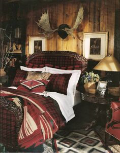 Antlers in a glorious Bedroom, perfect for the Cabin