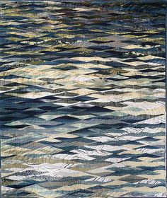 Waters180x148cm_W Tokyo Quilt Show - the Japanese have the most wonderful sensibility in quilting - this is wonderful!