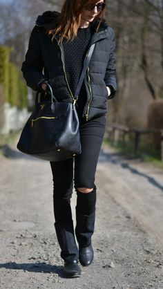 All black, black and gold, casual, comfy