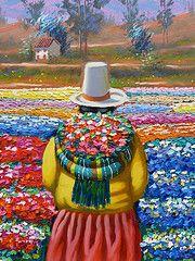 pintura peruana naif - Buscar con Google South American Art, Native American, Peruvian Art, Southwestern Art, Thread Painting, Arte Popular, Mexican Art, People Art, Religious Art