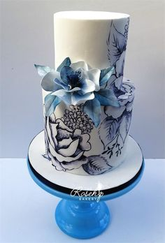 All our wedding cakes are bespoke, our designs can be based around your theme. We would be delighted to help you create your dream wedding cake design. Gorgeous Cakes, Pretty Cakes, Amazing Cakes, Cupcakes, Cupcake Cakes, Cake Pops, Wedding Cake Fresh Flowers, Wedding Cakes, Green Cake