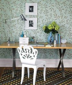 I'm ordering this wallpaper for the basement. Do I get the aqua like shown or chocolate brown? Hmmm...