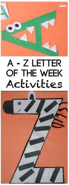 Super cute Alphabet Crafts from A to Z for toddler, preschool, prek, kindergarten {pacifickid.net/}