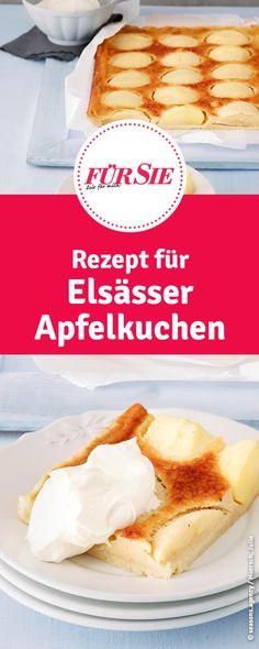 Rezept für Elsässer Apfelkuchen Cupcakes, Camembert Cheese, Ethnic Recipes, Food Porn, Alsace, Fried Apples, Apple Recipes, Treats, Cup Cakes