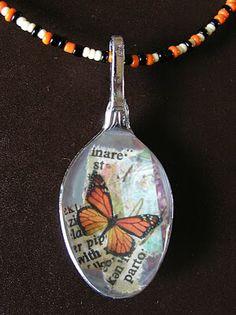 Spoon necklace.  Eye candy... http://honeygirlstudiojewelry.blogspot.com/2010_07_01_archive.html
