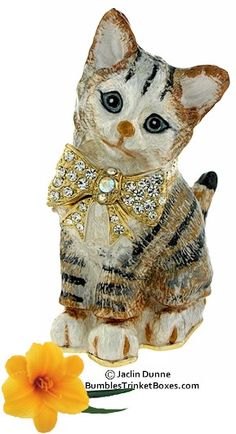 Trinket Boxes- Kitten With Bow