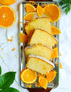 Rezept: Orangenkuchen mit Zuckerguß   Saftig fluffiger Orangenkuchen #Rezept #Orangenkuchen #Kuchen #backen waseigenes.com Blog