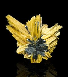 Brilliant RUTILE-HEMATITE SUNBURST RadiatingGolden Crystals Brazil*