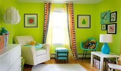 Neon green room; Madison Mamas - a place for moms and families with young children in Madison, Wi