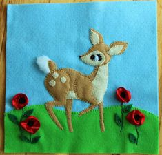 Here is the latest quiet book page I've been working on. I'm doing a few spring themed pages to help with my cabin fever (the weather here i...