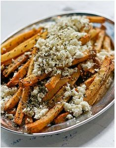 Greek Fries - w/Feta & Oregano -this is the only way to eat fries...nothing else matters.