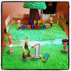 Phineas & Ferb Birthday Cake!!