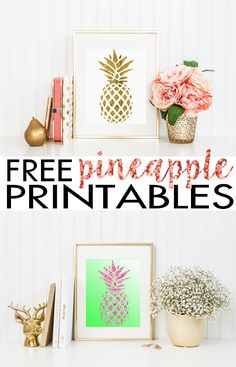Best Free Printables For Your Walls - Pineapple Wall Art Free Printable - Free P.,Best Free Printables For Your Walls - Pineapple Wall Art Free Printable - Free Prints for Wall Art and Picture to Print for Home and Bedroom Decor - C. 3d Prints, Free Prints, Wall Prints, Crafts To Make And Sell, Diy And Crafts, Paper Crafts, Pineapple Room, Pineapple Ideas, Pineapple Wall Decor