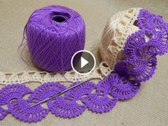 Stripy Lace to Crochet Tutorial 1 Part 2 of 2 Crochet Tape Lace In this video you can see beautifully shaped flat crochet tape. Crochet tape tutorial consist of 2 parts. This crochet lace pattern you can use as a scarf, b. Crochet Motifs, Crochet Flower Patterns, Thread Crochet, Crochet Designs, Crochet Crafts, Crochet Lace, Crochet Hooks, Crochet Projects, Knitting Patterns