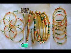 Thin bangle set - Making with silk thread |jewellery tutorials - YouTube