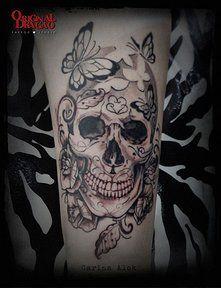 Tattoo Skull and Roses