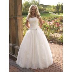 modest wedding dresses | Modest Wedding Dress - Ball Gown - P829m | Beautifully Modest | First ...