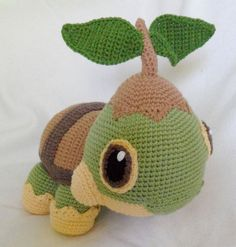 "Turtwig Crochet Pokemon ""Life Size"" via Etsy."