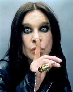 Ozzy Ozbourne asking us not to tell Sharron.