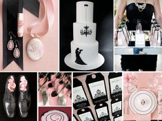 {cameo} classic wedding combo: pink and black with cameo details! http://burnettsboards.com/2012/10/cameo/