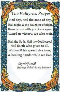 The Valkyries prayer