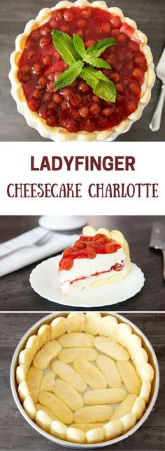 This Ladyfinger Cheesecake recipe takes your favorite dessert in a new direction. We line a cake mold with European ladyfinger biscuits from the grocery store and fill it with a smooth cheesecake filling. The end result is ambrosia at first bite. It's equ Lady Fingers Dessert, Lady Fingers Recipe, No Bake Desserts, Just Desserts, Delicious Desserts, Dessert Recipes, Yummy Food, Cupcake Filling Recipes, Fall Recipes