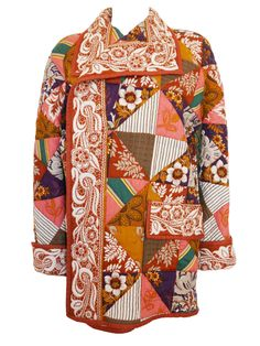 VALENTINO 1970s Vintage Quilted Patchwork Jacket