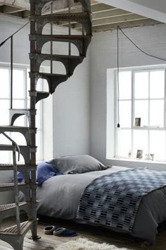 Stairs in a bedroom