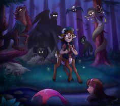 Monster Falls by mistrel-fox on tumblr <- My favorite GF AU #GravityFalls