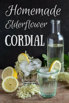Homemade Elderflower Cordial is one of the finest flavours of Spring! Try to make enough to see you through to winter.
