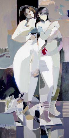 Beyond The White, Painting, Hessam Abrishami