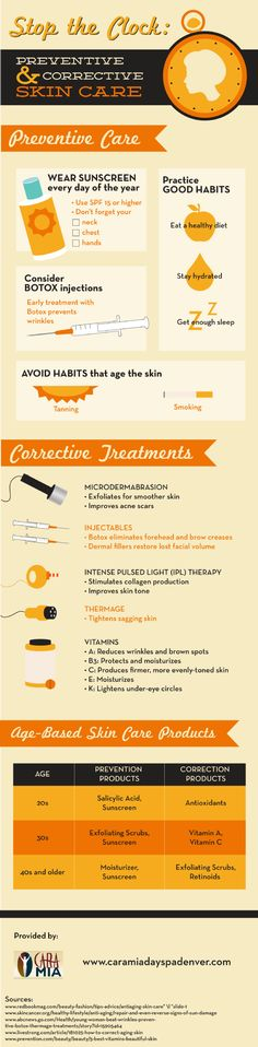 If you want healthy, glowing skin, make sure to take your vitamins! Vitamin A reduces wrinkles and brown spots. Vitamin B3 protects and moisturizes skin. Vitamin E moisturizes, while vitamin K lightens circles under the eyes. To learn more about vitamins and healthy skin, check out this infographic.