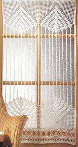 Idea para realizar una Cortina tejida a crochet Linda cortina tejida a crochet OjoconelArte.cl |