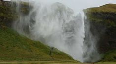 Hurricane Over Seljalandsfoss Waterfall - Iceland