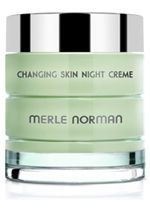 """Changing Skin Night Creme  For all skin types and sensitivity concerns.   This time-released moisturizer alleviates the dryness that's associated with hormonal changes all through the night. The vitamin and protein-rich formula helps energize and improve skin tone for an overall well-rested look. After application, moisturization is improved by 55% and skin looks smoother by 40%. After 8 weeks of use, skin appears """"lifted,"""" feels firmer and feels 53% smoother. Safe for sensitive skin…"""