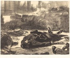 Civil War (Guerre civile) 1871 Manet Lithograph NGA DC