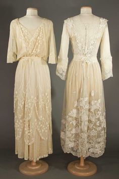 Buy online, view images and see past prices for TWO LACE TEA GOWNS, EARLY 20TH C. Invaluable is the world's largest marketplace for art, antiques, and collectibles.